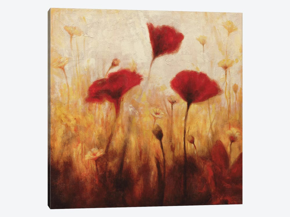 Poppies And Daisies I by Natalie Carter 1-piece Art Print
