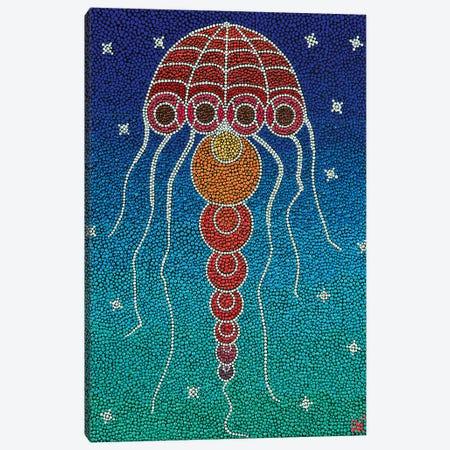 Jellyfish Canvas Print #NAH11} by Nadya Al-Haroun Canvas Art