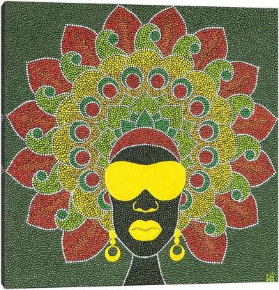 Mandala Afro Canvas Art Print