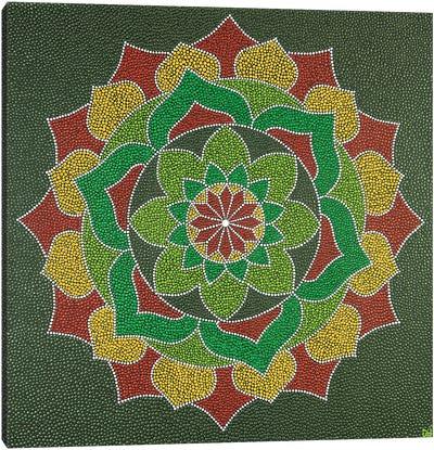 Mandala Flower Canvas Art Print