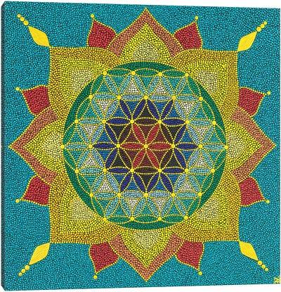 Mandala Flower Of Life I Canvas Art Print