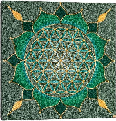 Mandala Flower Of Life II Canvas Art Print
