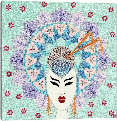 Mandala Geisha Canvas Art Print