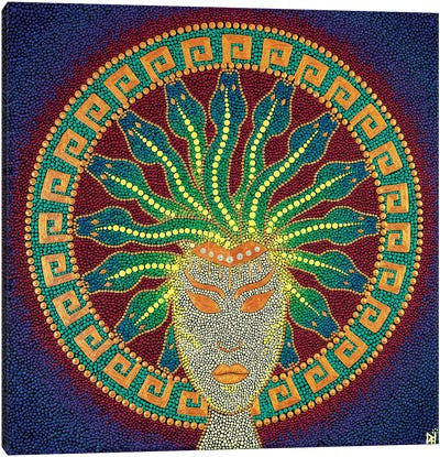 Mandala Medusa Canvas Art Print