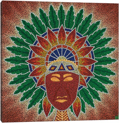 Mandala Native American Canvas Art Print