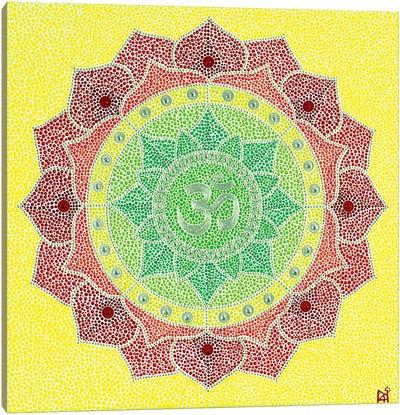 Mandala Om Canvas Art Print