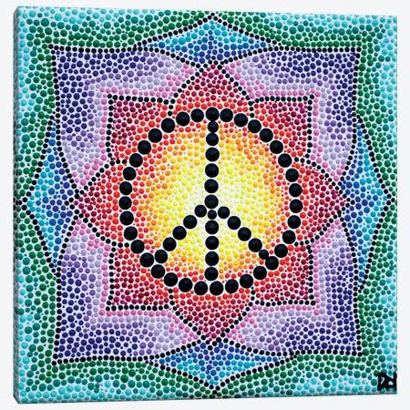 Mandala Peace Canvas Print #NAH23} by Nadya Al-Haroun Canvas Art Print