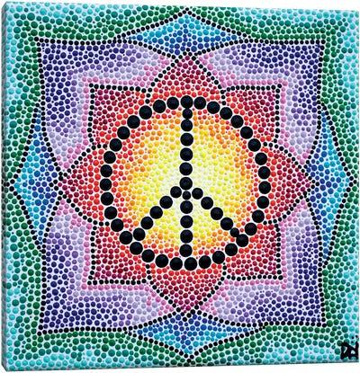 Mandala Peace Canvas Art Print