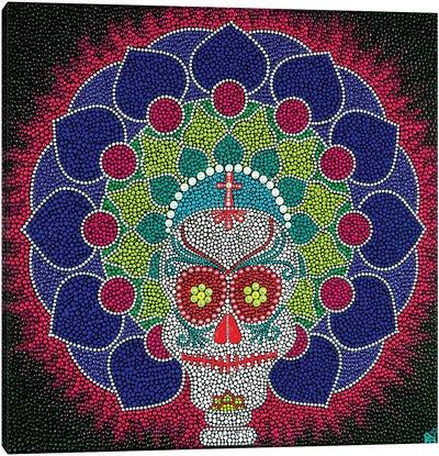 Mandala Skull Canvas Art Print