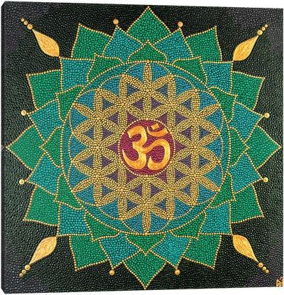 Mandala Flower Of Life Om Canvas Art Print
