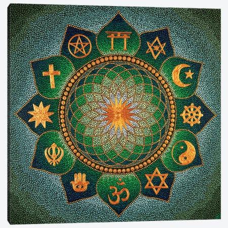 Mandala Religion 3-Piece Canvas #NAH29} by Nadya Al-Haroun Art Print