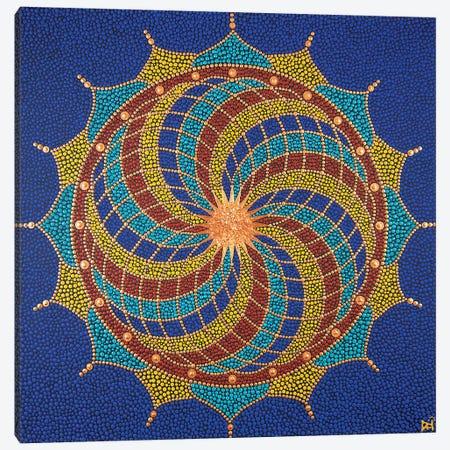 Fibonacci Flower Canvas Print #NAH30} by Nadya Al-Haroun Canvas Artwork