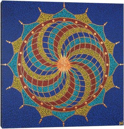 Fibonacci Flower Canvas Art Print