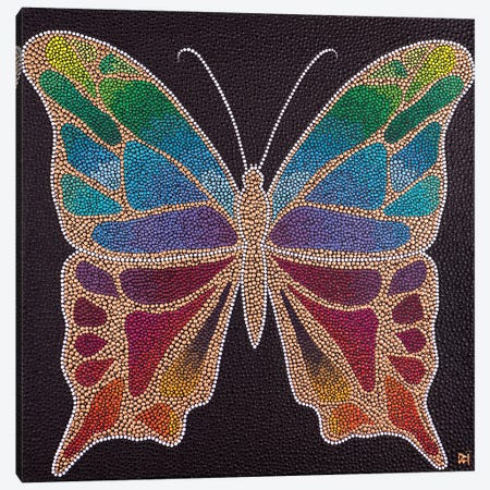 Butterfly Canvas Print #NAH35} by Nadya Al-Haroun Canvas Art Print
