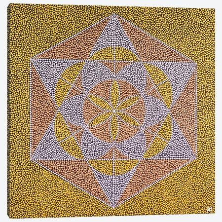 Seed Of Life Star Canvas Print #NAH37} by Nadya Al-Haroun Canvas Print