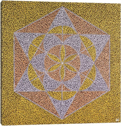 Seed Of Life Star Canvas Art Print
