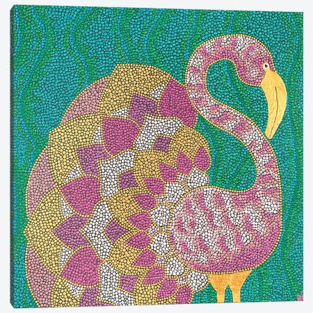 Flamingo Canvas Print #NAH3} by Nadya Al-Haroun Art Print