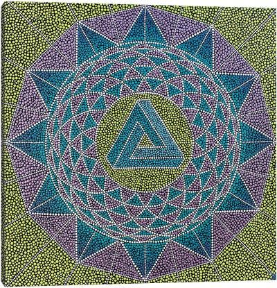 Eternity Geometric Mandala Canvas Art Print