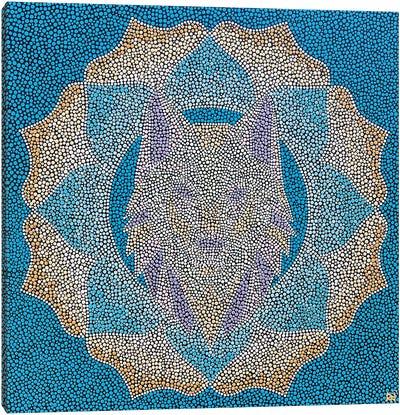 Geometric Wolf Canvas Art Print