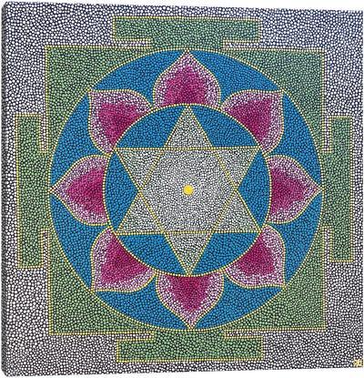 Saraswati Yantra Canvas Art Print