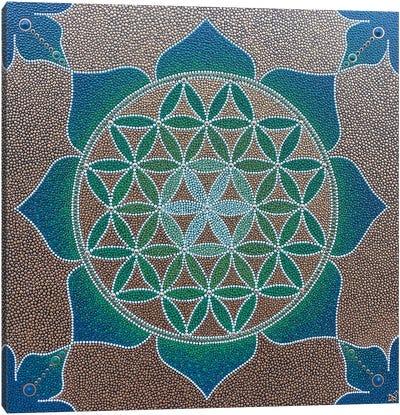 Flower Of Life Mandala Canvas Art Print