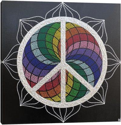 Rainbow Peace Canvas Art Print