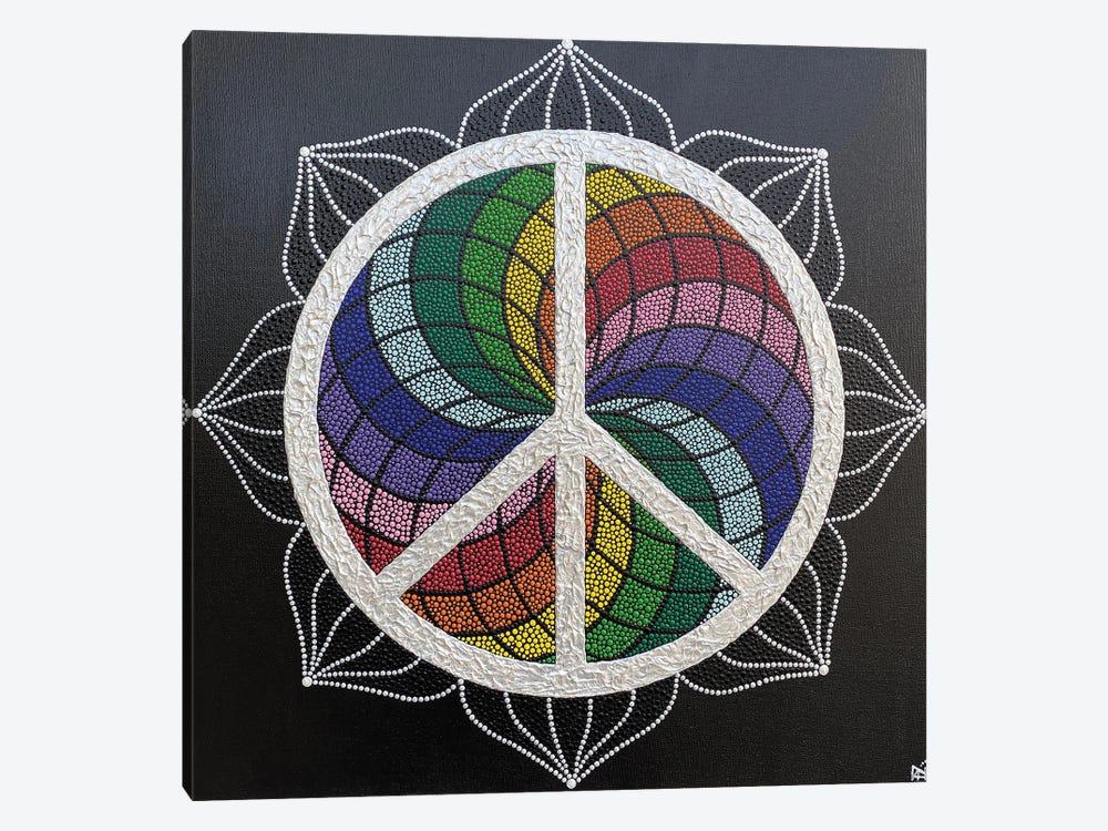 Rainbow Peace by Nadya Al-Haroun 1-piece Art Print