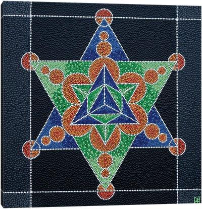 Geometric Star Canvas Art Print