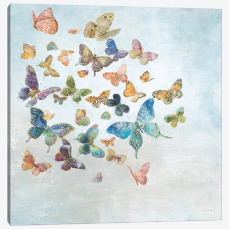 Beautiful Butterflies v3 Sq Light Canvas Print #NAI104} by Danhui Nai Art Print