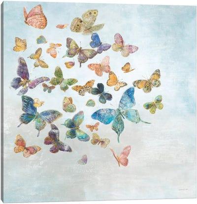 Beautiful Butterflies v3 Sq Light Canvas Art Print