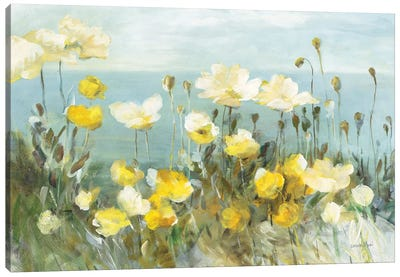 Field of Poppies Bright Canvas Art Print