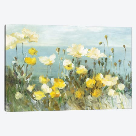 Field of Poppies Bright Canvas Print #NAI108} by Danhui Nai Canvas Wall Art