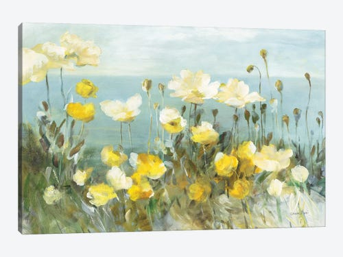 Field Of Poppies Bright Canvas Art By Danhui Nai Icanvas