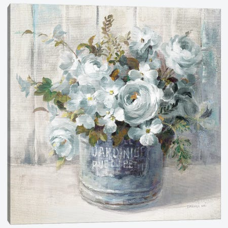 Garden Blooms I Blue Crop Canvas Print #NAI109} by Danhui Nai Canvas Art