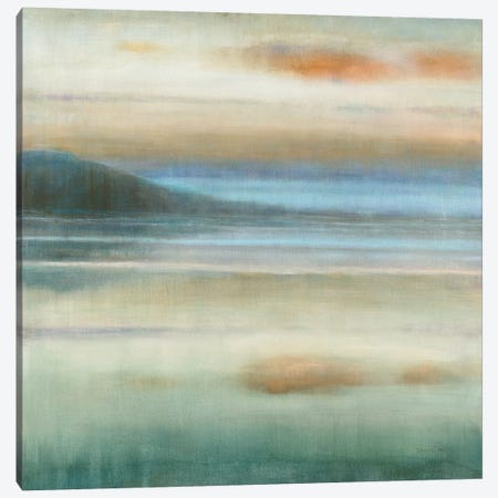 Coastal Sunset Canvas Print #NAI117} by Danhui Nai Canvas Art