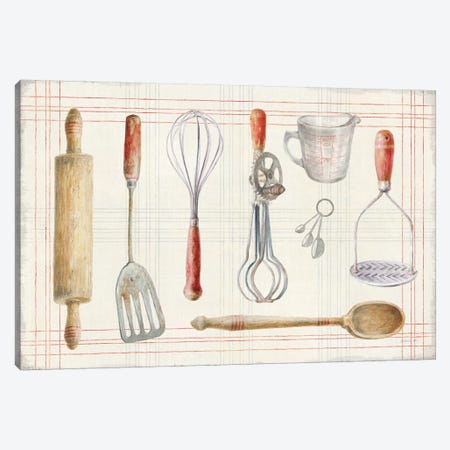 Floursack Kitchen IX Canvas Print #NAI120} by Danhui Nai Canvas Wall Art