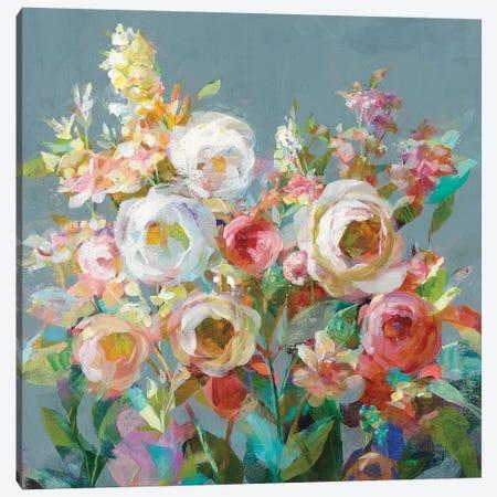Joy of the Garden Square I Canvas Print #NAI125} by Danhui Nai Canvas Print