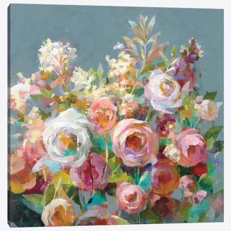 Joy of the Garden Square II Canvas Print #NAI126} by Danhui Nai Canvas Print