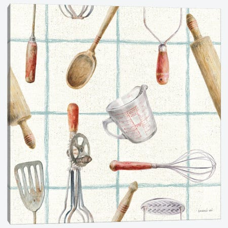 Kitchen Floursack Pattern IVB Canvas Print #NAI128} by Danhui Nai Canvas Wall Art