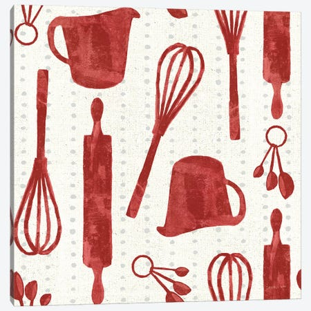 Kitchen Floursack Pattern VIA Canvas Print #NAI129} by Danhui Nai Canvas Art