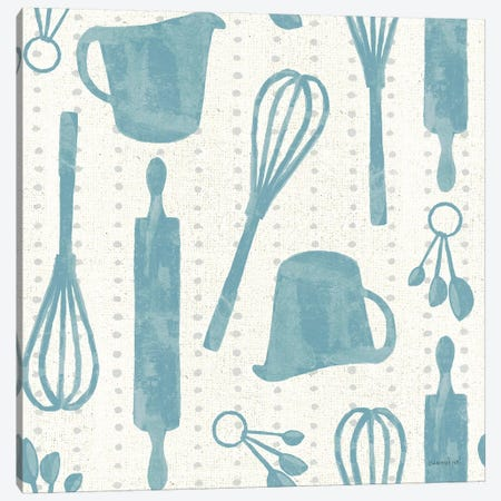 Kitchen Floursack Pattern VIB Canvas Print #NAI130} by Danhui Nai Canvas Print