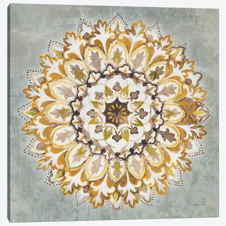 Mandala Delight II Yellow Gray Canvas Print #NAI131} by Danhui Nai Canvas Print