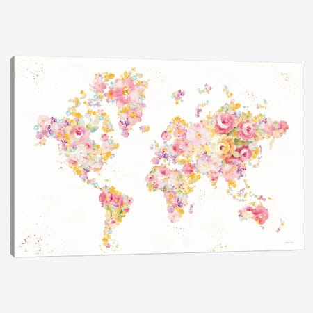Midsummer World - No Border Canvas Print #NAI133} by Danhui Nai Canvas Art Print