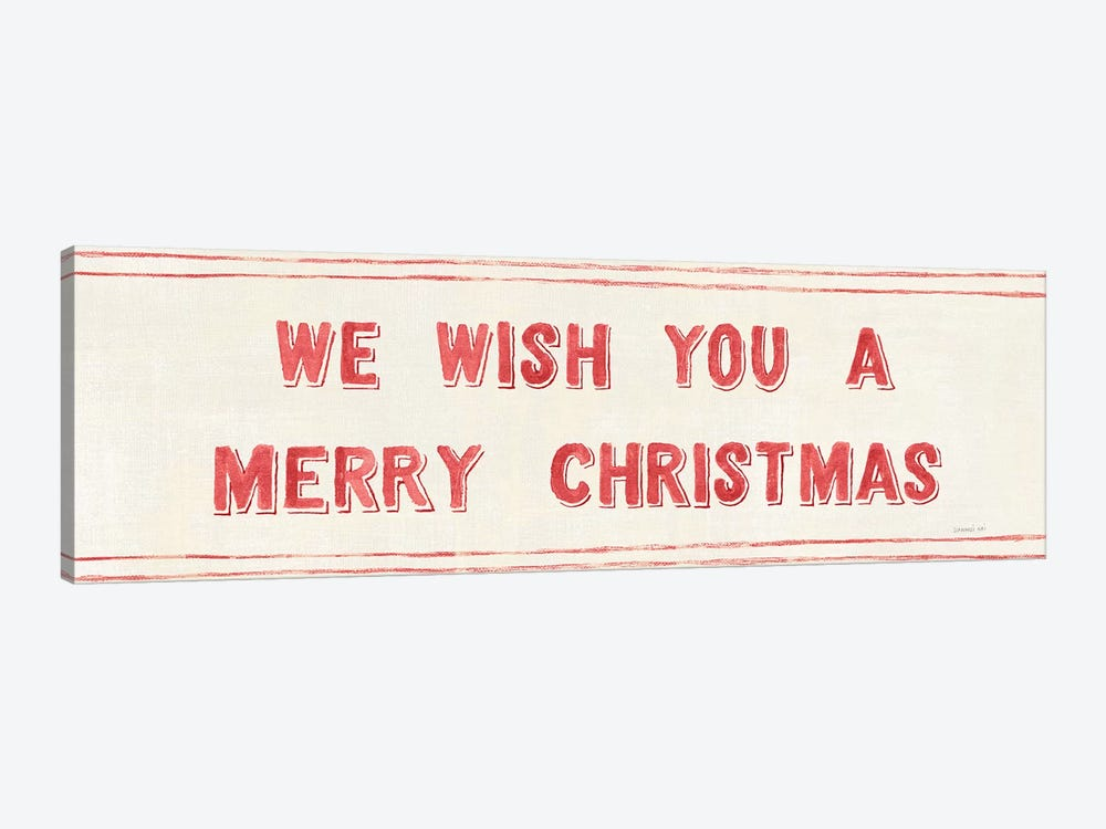 Floursack Holiday Bright Mery Christmas by Danhui Nai 1-piece Canvas Art Print