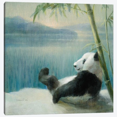 Resting in Bamboo Canvas Print #NAI15} by Danhui Nai Canvas Art