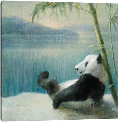 Resting in Bamboo Canvas Art Print