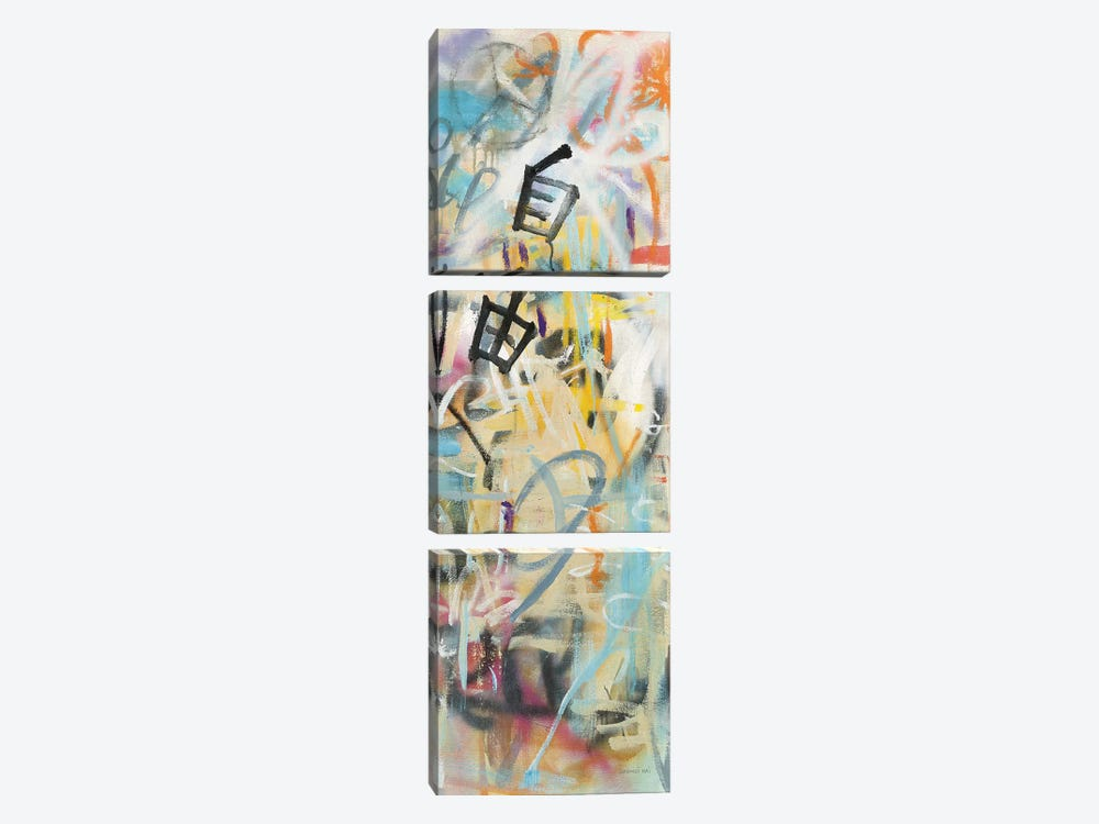 Graffiti Freedom Panel II by Danhui Nai 3-piece Canvas Artwork