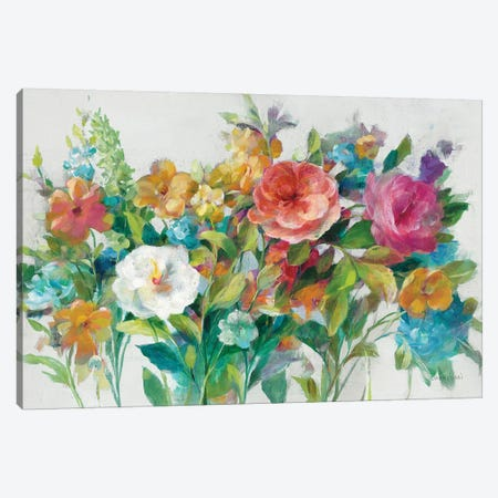 Country Florals Neutral Canvas Print #NAI172} by Danhui Nai Canvas Print