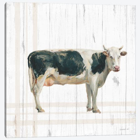Farm Patchwork V White Wood Canvas Print #NAI173} by Danhui Nai Canvas Art Print