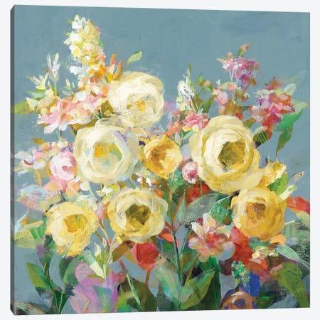Joy of the Garden Sq I Yellow Canvas Print #NAI191} by Danhui Nai Canvas Art Print